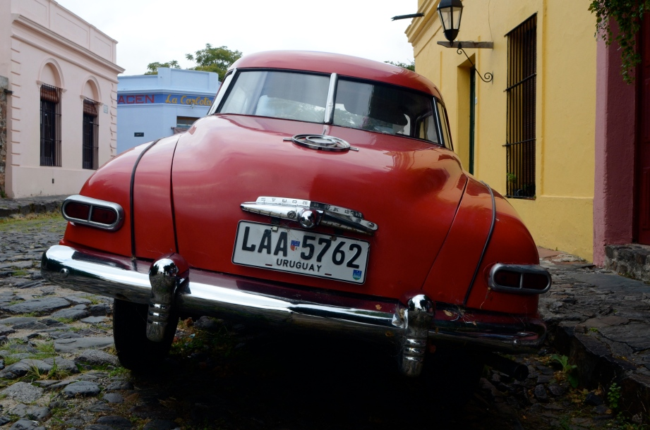 Red Studebaker in Colonia, Uruguay