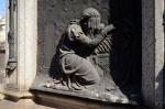 Grieving statue in Recoleta Cemetery..