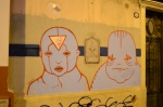 Graffiti heads in San Telmo..