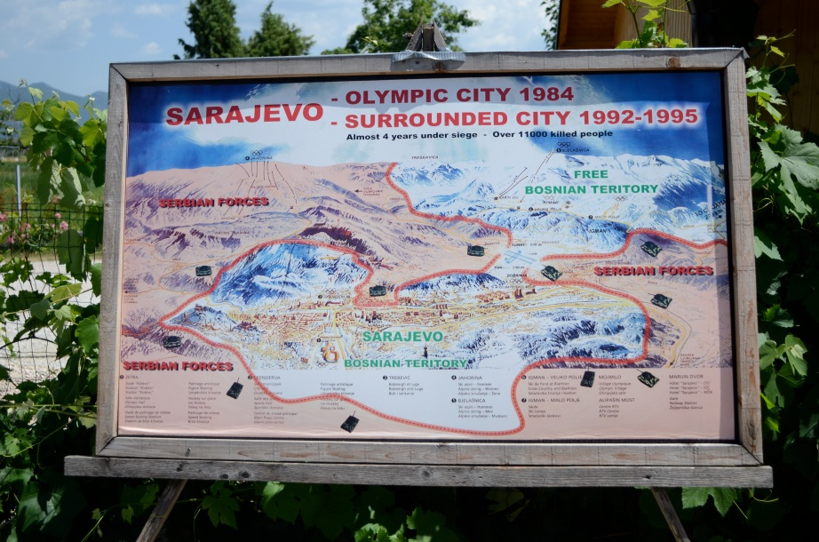 Map of wartime Sarajevo..