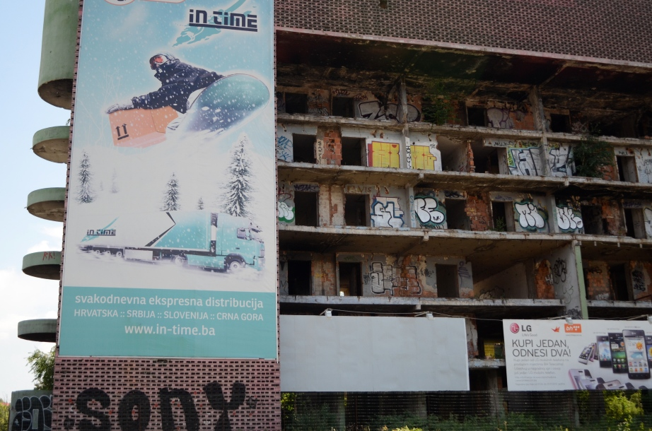 Abandoned building in Sarajevo..