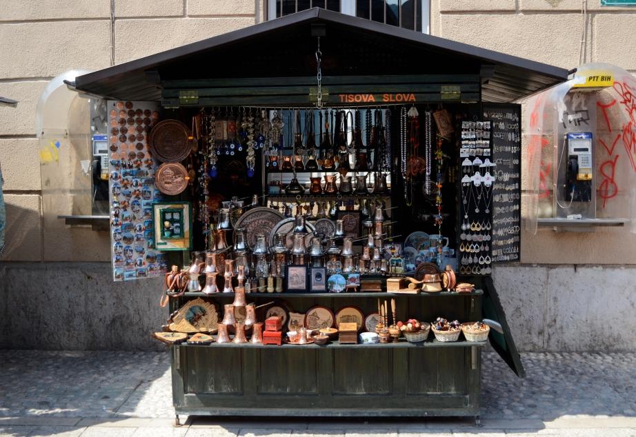 Sarajevo trinket stall..